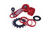 DMR Simple Tension Seeker 1-Speed Combo kettinggeleider rood